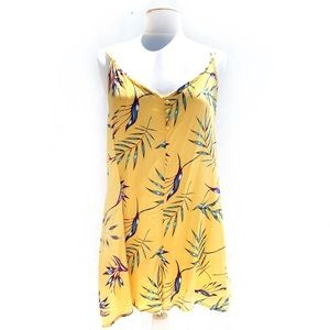 🌸🌵🌼Roxy | Yellow Tropical Romper XL